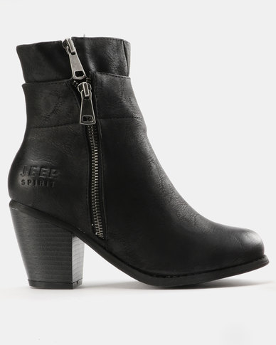 Jeep Jeep Lama Heeled Ankle Boots Black buy cheap discounts new sale online m7peXD