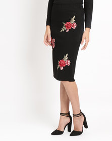 Utopia Ponti Skirt With Embroidery Black