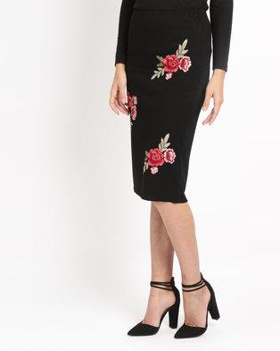 Utopia Ponti Skirt With Embroidery Black