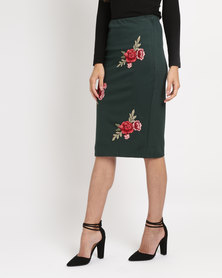 Utopia Ponti Skirt With Embroidery Emerald