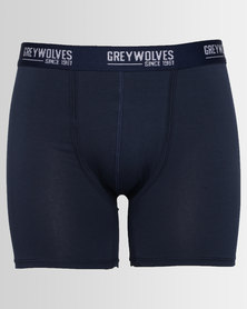 Greywolves Boxer Briefs With Binding Navy Blue