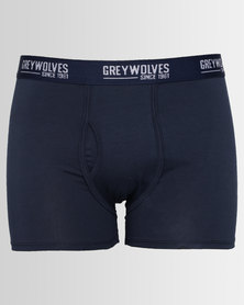 Greywolves Classic Trunks With Binding Navy Blue
