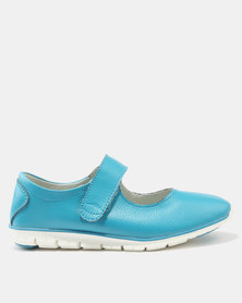 Step On Airs Franny Leather Low Cut Slip On Sneakers Blue