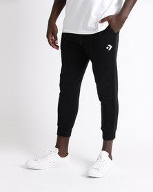 Converse Star Chevron FT Slim Fit Graphic Ankle Pants Black