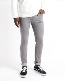 K7Star Zack Slim Fit Jeans Grey