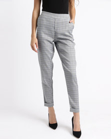 cath.nic By Queenspark Plaid Check Woven Trouser Black/White