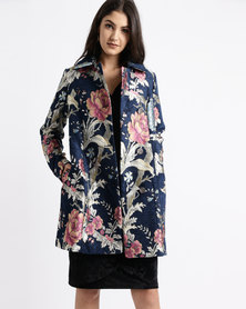 cath.nic By Queenspark Designer Damask Woven Coat Multi