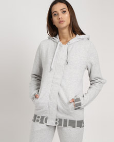 Billabong Soul Street Hooded Zip Through Grey