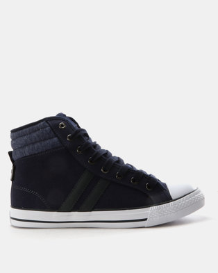 North Star High Top Sneakers Navy