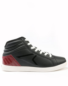 Power Lace Up High Top Sneakers Black