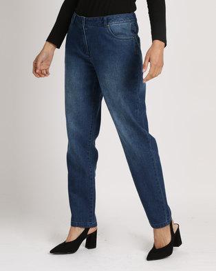 Yarra Trail Boyfriend Jeans Blue