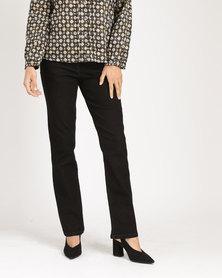 Yarra Trail Straight Leg Jeans Black