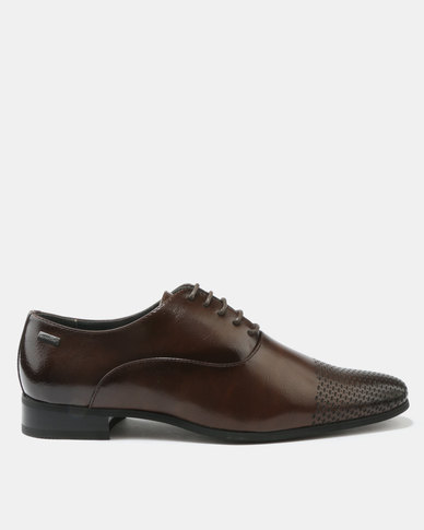 buy cheap geniue stockist high quality online Gino Paoli Gino Paoli Formal Laser Toe Cap Shoes Brown for sale cheap online sale view us751c