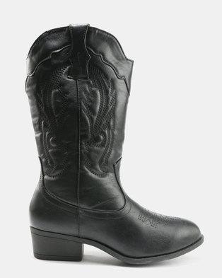 AWOL Mid Calf Boots Black