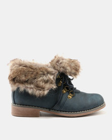 Awol Ankle Boots Navy