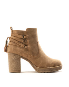 Franco Ceccato Back Lace Up Casual Bootees Natural