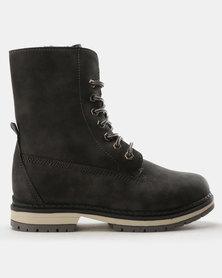 Franco Ceccato Fabric Collar Hiking Boots Grey