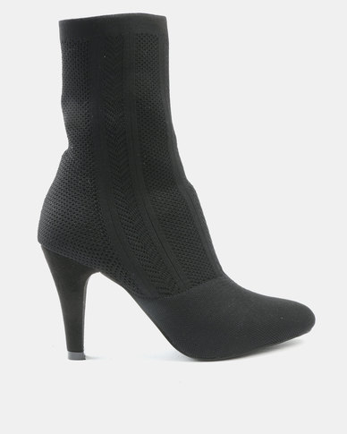 Wild Alice by Queue Wild Alice by Queue Knitted Ankle Boots Black high quality buy online cheap sale good selling clearance excellent hot sale sale online free shipping low cost mQXd31a