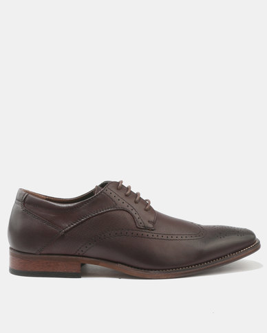 Franco Ceccato Brogue Leather Lace Up Shoes Brown