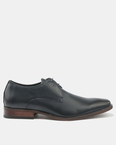 Franco Ceccato Formal Lace Up Shoes With Detail Navy Blue