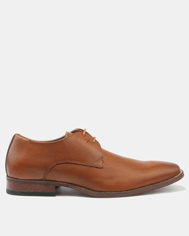 Franco Ceccato Formal Lace Up Shoes With Detail Tan