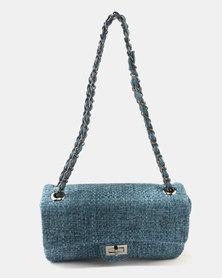 Queue Fabric Baguette Bag Teal