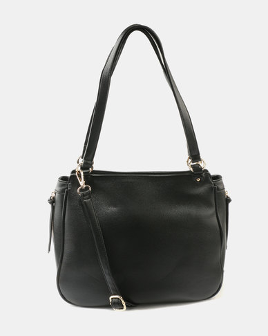 Queue Medium Sized Shopper Bag Black