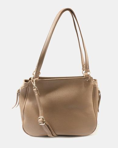 Queue Medium Sized Shopper Bag Taupe