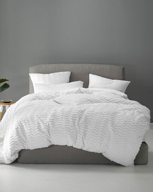 Linen House Tathra Duvet Cover Set White