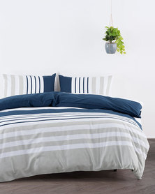 Linen House Newtown Duvet Cover Set Navy