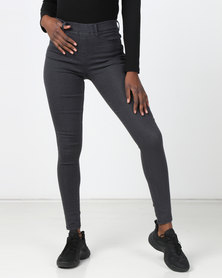 Legit Denim Jeggings Charcoal