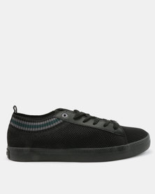 Tom_Tom Rebel Knit Low Cut Lace Up Sneakers Black/Grey