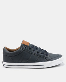 Tom_Tom Savage Low Cut Lace Up Sneakers Navy/Tan