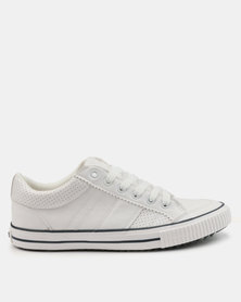 Tom_Tom Savage Low Cut Lace Up Sneakers White