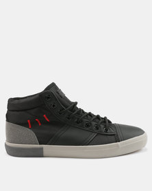 Tom_Tom Shifter High Top Lace Up Sneakers Black/Grey