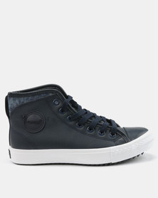 Tom_Tom Armour High Top Lace Up Sneakers Navy