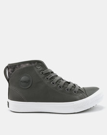 Tom_Tom Armour High Top Lace Up Sneakers Grey