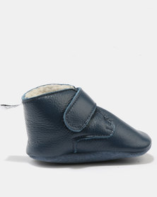 Shooshoos Space Station Unlined Booties Blue