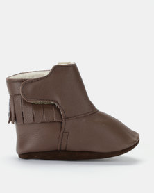 Shooshoos Bear Grills Fleece Lined Booties Brown