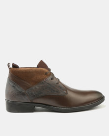 Watson Elite Porter Leather Boots Brown
