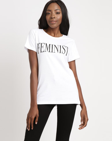 d22f0cde13fb6 T-Shirts For Change Feminist Tee White | Zando