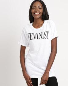T-Shirts For Change Feminist Tee Unisex White