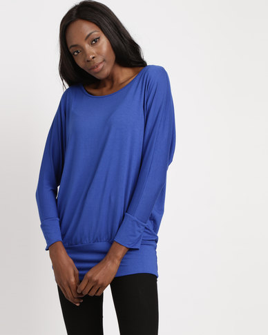 Utopia Batwing Top Cobalt