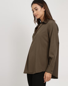 G Couture Collared Shirt Olive