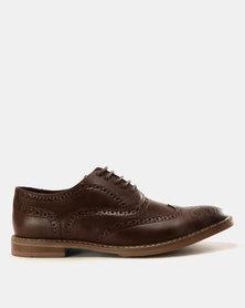Anton Fabi Basilio Casual Lace Up Shoes Dark Brown