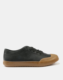 Tom_Tom Edge Low Cut Lace Up Sneakers Black/Gum