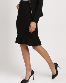 Sissy Boy Flounce Midi Skirt Black