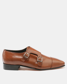 Barker Monk Strap Formal Shoes Tan