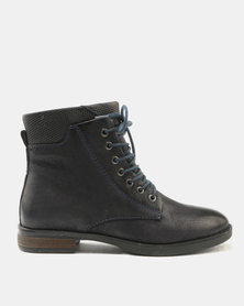 GIA  by Queue MILITARY LEATHER LACE UP BOOT