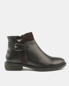 GIA  by Queue ANKLE BOOT WITH TEXTURED INSERT